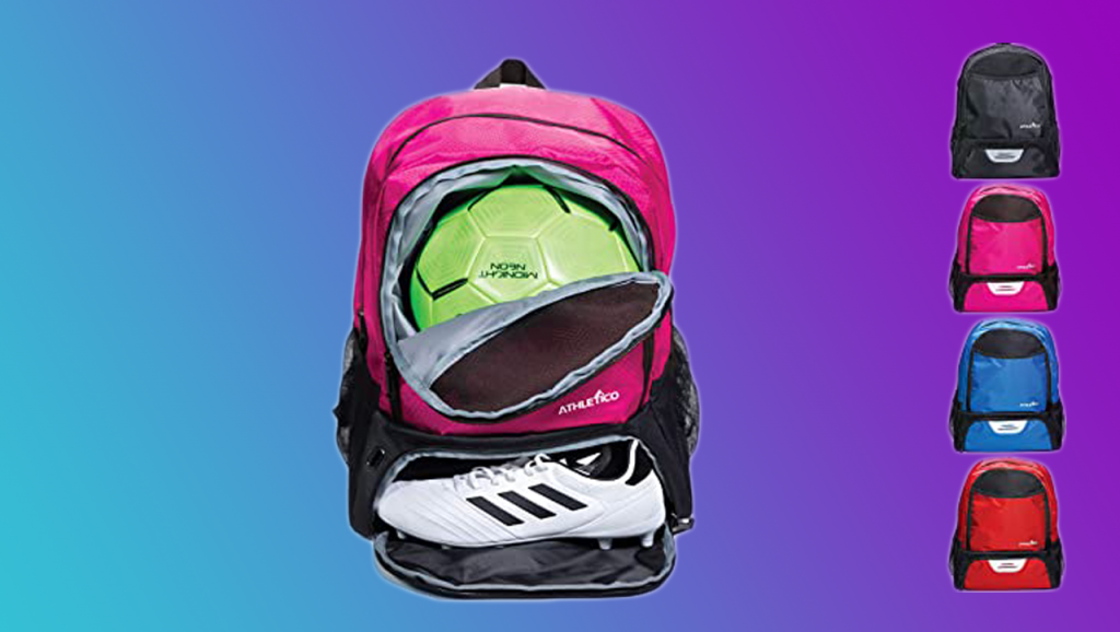 Athletico Youth Soccer Bag – Soccer Backpack and Bags for Basketball