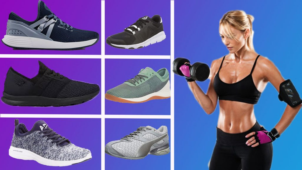 gym women shoes easy exercises