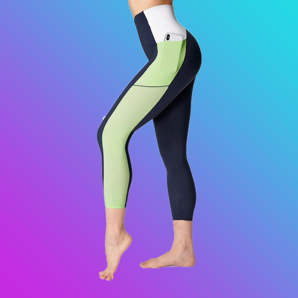 Sweat-soaked Betty Power Mission High-Waisted 7/8 Gym Leggings