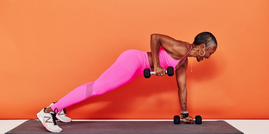 Plank with Biceps Curl